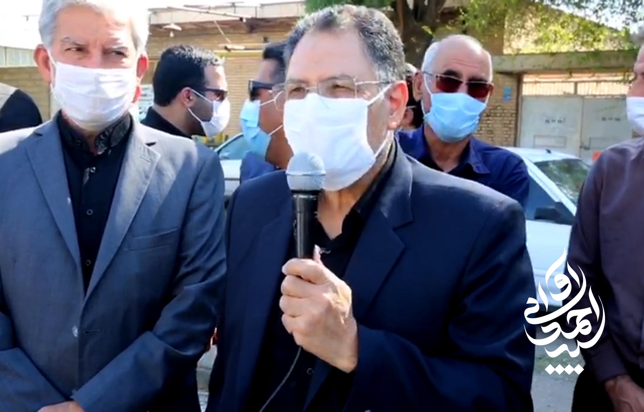 گزارش ویدئویی – با حضور آوایی عملیات تعریض و آسفالت جاده محمد بن جعفر آغاز شد