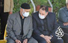 حضور آوایی در مراسم خاکسپاری پدر همسر سردار غلامعلی رشید