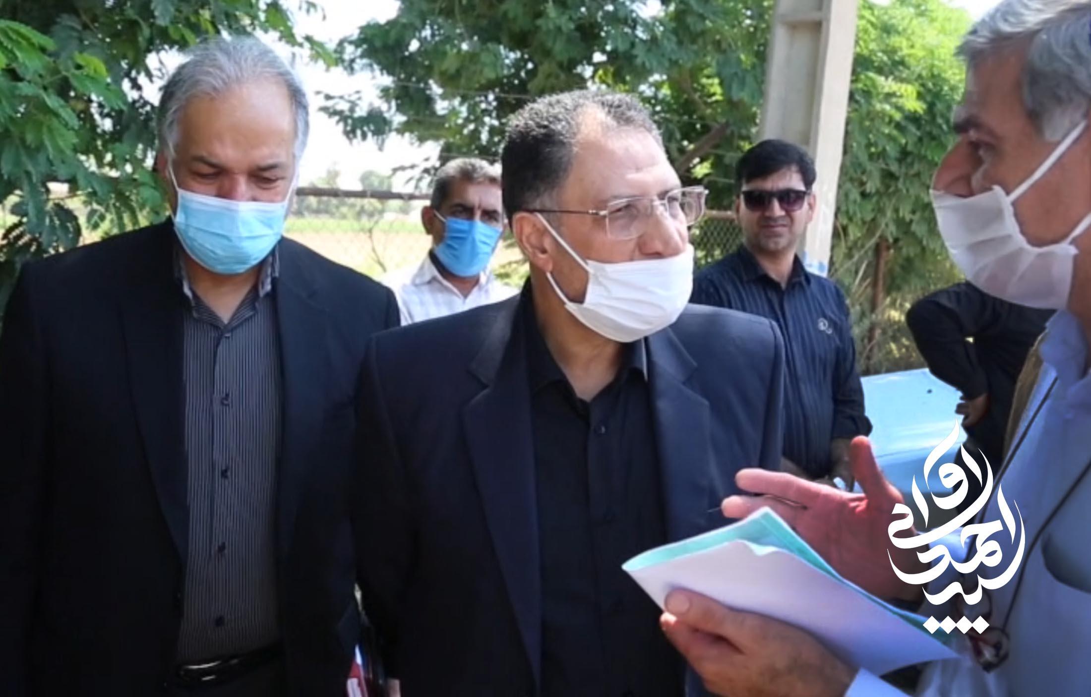 بازدید میدانی سید احمد آوایی از پروژه تعریض و بهسازی جاده صفی آباد