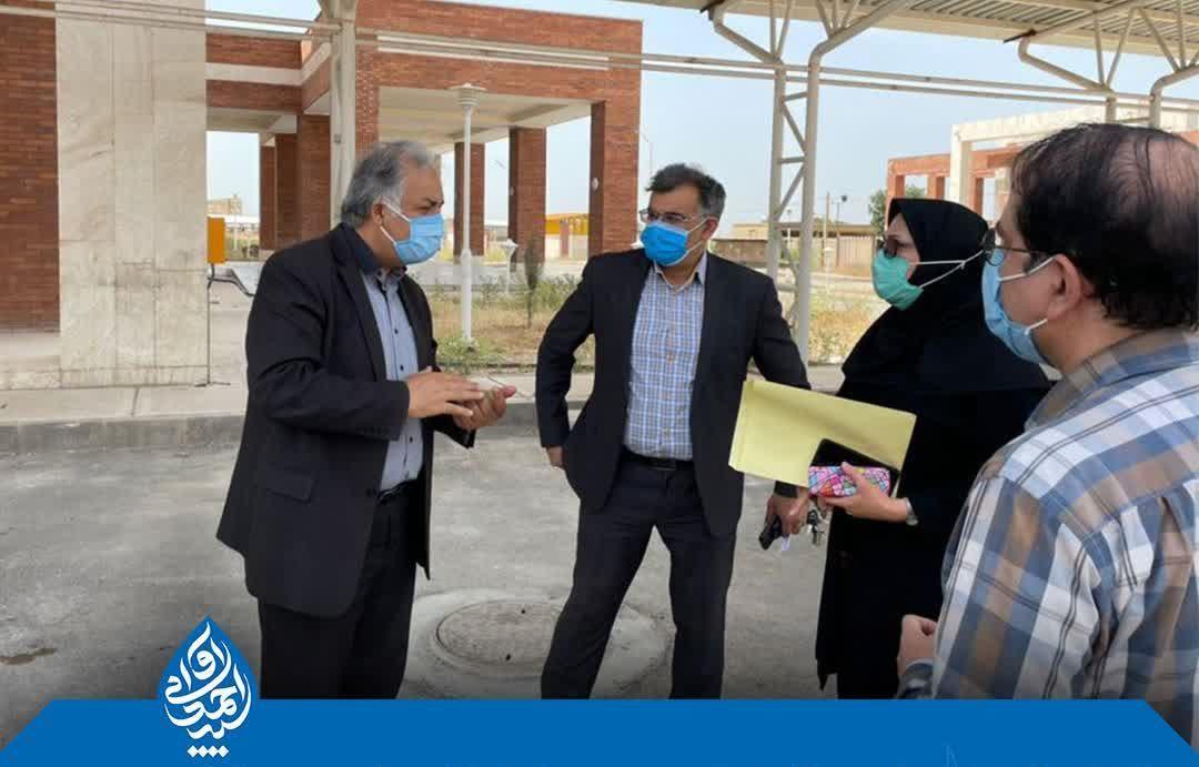 بازدید از روند تکمیل بیمارستان تامین اجتماعی دزفول به دستور سید احمد آوایی