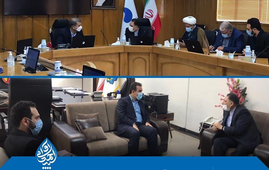 دیدار آوایی با مدیران عامل سازمان آب و برق و همچنین برق منطقه ای خوزستان