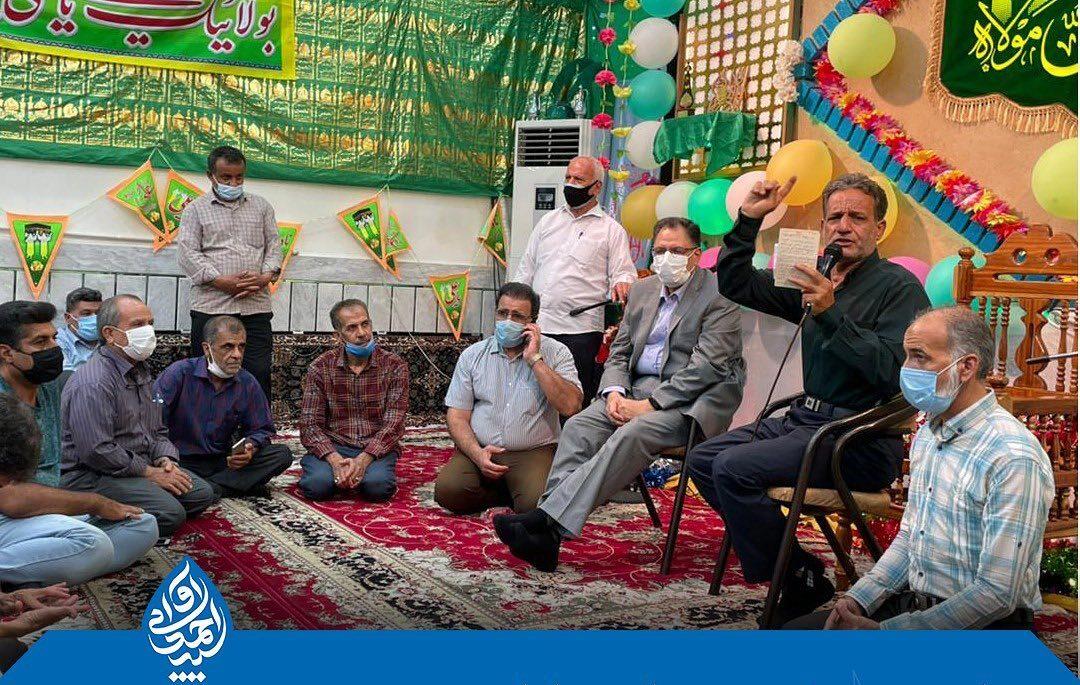 حضور سید احمد آوایی در جشن های غدیر شهرستان دزفول